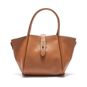 Hnedá kožená kabelka Mangotti Walleriana