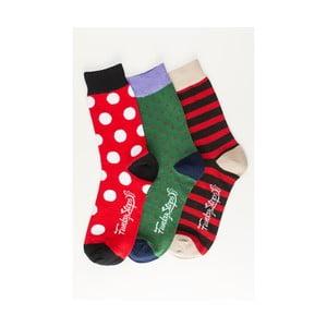 Sada 3 párov unisex ponožiek Funky Steps Fulvia, veľkosť 39/45