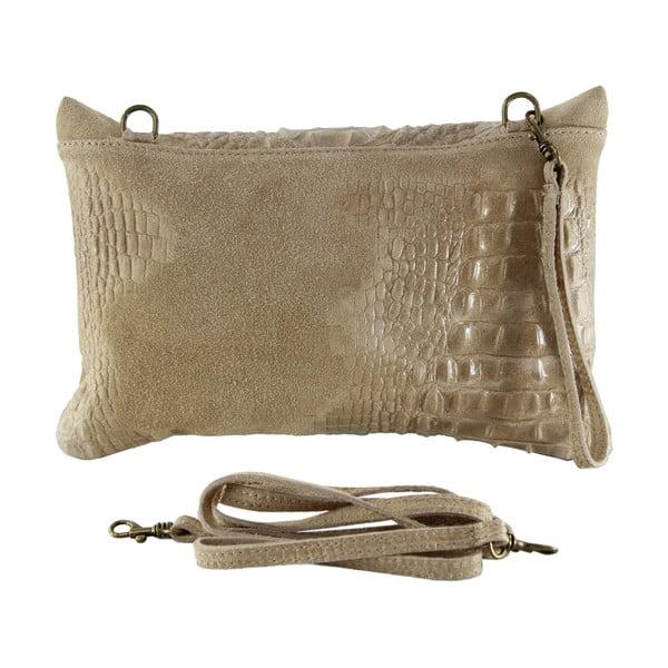 Kožená listová kabelka Wissa, taupe