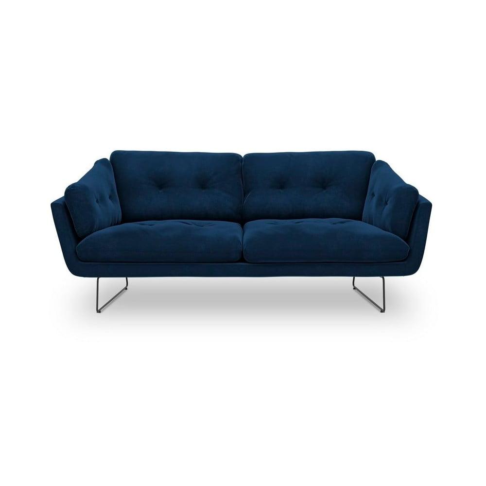 Kráľovskymodrá trojmiestna pohovka so zamatovým poťahom Windsor & Co Sofas Gravity