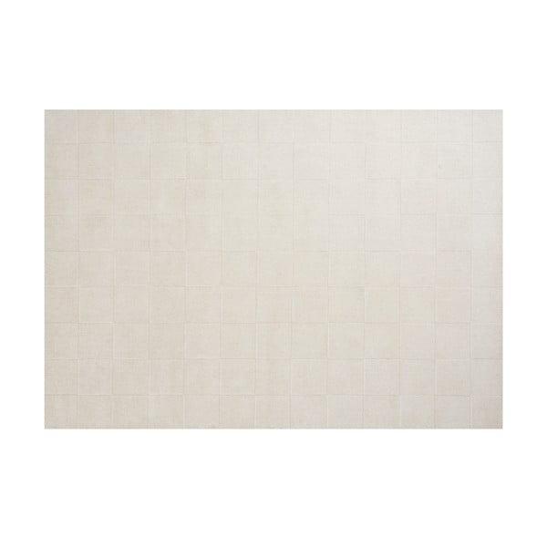 Vlnený koberec Luzern, 140x200 cm, biely