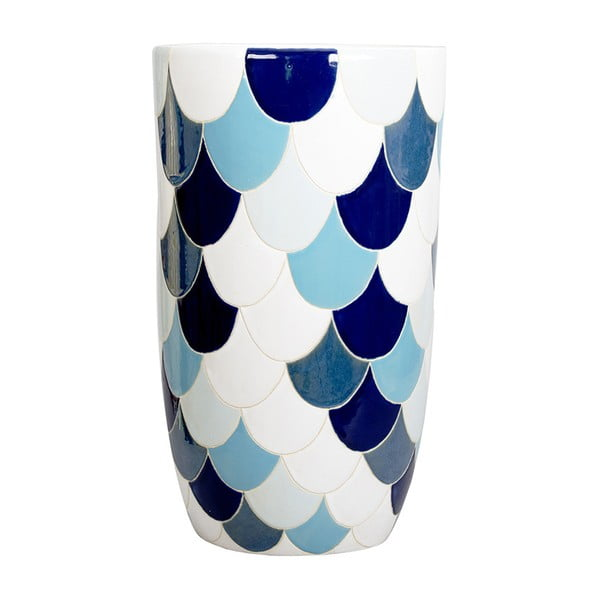 Kameninová ručne maľovaná váza a'miou home Seatura, ⌀ 21 cm