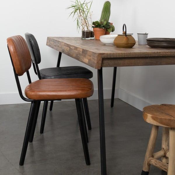 Hnedá stolička Jake Worn