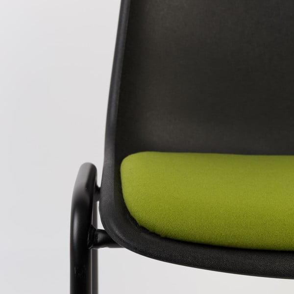 Stolička Back to Gym, čierna/zelená