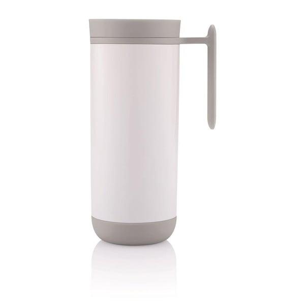 Biely cestovný termohrnček s uchom XD Design Clik, 225 ml