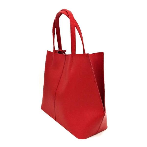 Kožená kabelka Cleia Red