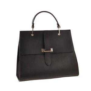 Kožená kabelka Pau, čierna