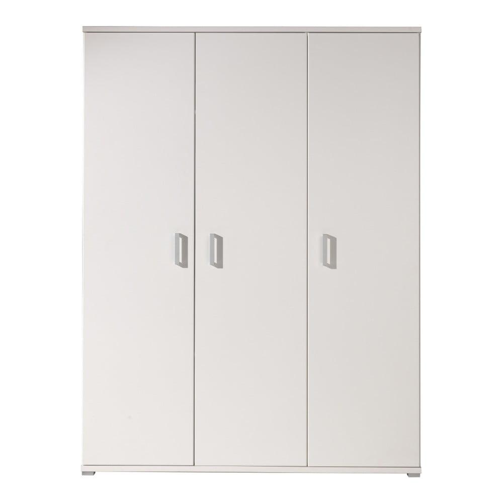 Biela šatníková skriňa Vipack Milan, 198 × 59 × 150 cm