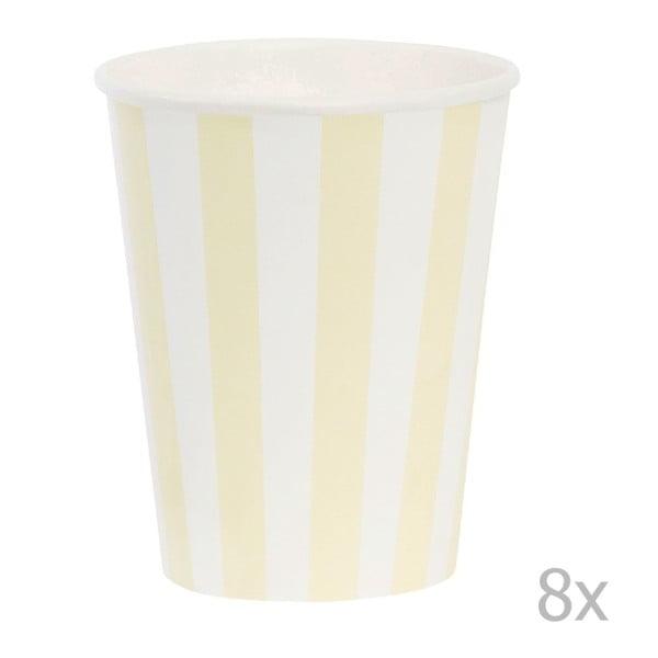 Sada papierových pohárikov Miss Étoile Lemon Stripe, 8 ks