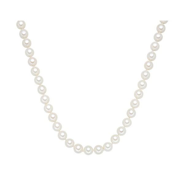 Perlový náhrdelník Muschel, biele perly 10 mm, dĺžka 45 cm