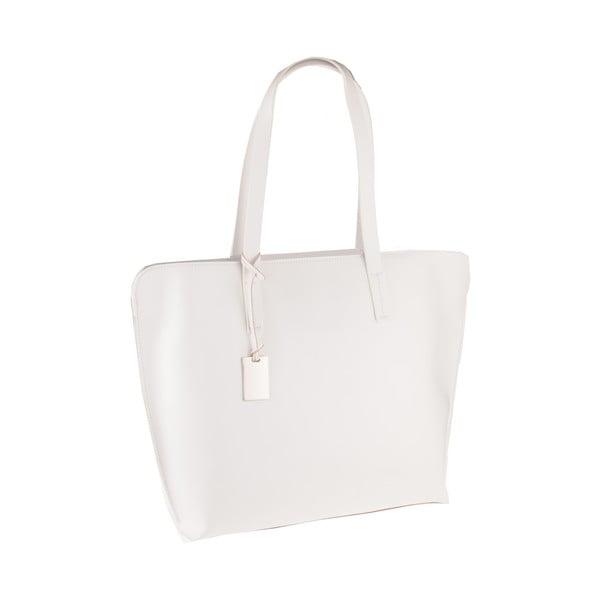 Biela kožená kabelka Florence Vega