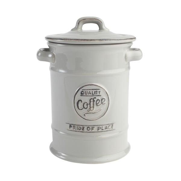 Sivá keramická dóza na kávu T&G Woodware PrideofPlace