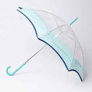 Dáždnik Alvarez Vichy Transparent Blue Aqua