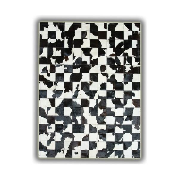 Koberec z pravej kože B&W, 140x200 cm