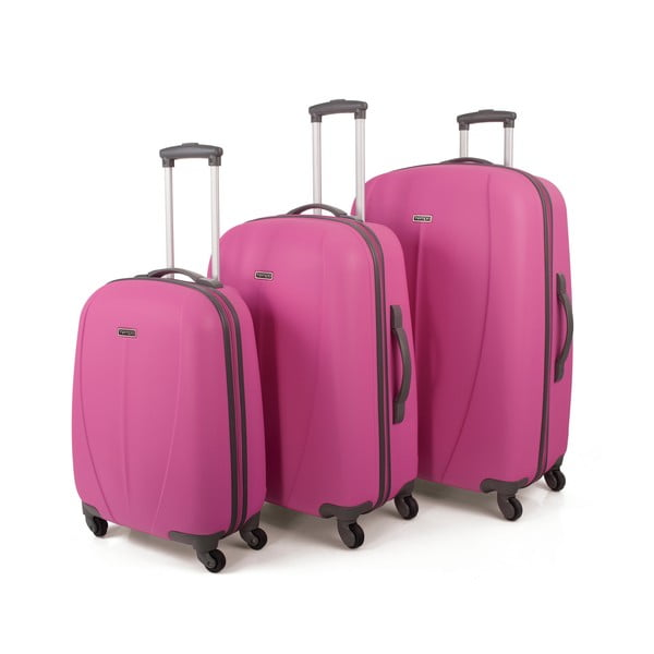 Set 3 cestovných kufrov Tempo Rosa