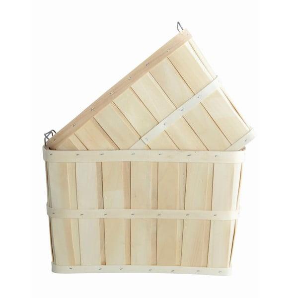 Sada 2 drevených košíkov House Doctor Storage