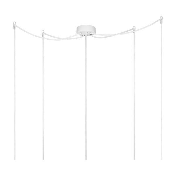 Biele závesné svietidlo s 5 káblami Bulb Attack Cero Basic