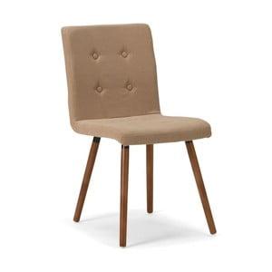 Béžová drevená jedálenská stolička SOB Arana
