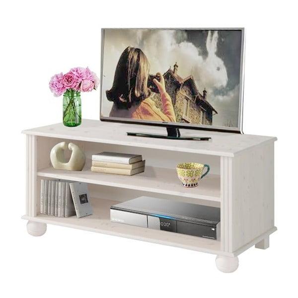 Biely TV stolík z masívneho borovicového dreva Støraa Ella
