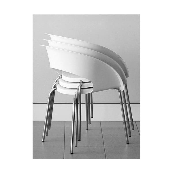 Biela kancelárska stolička Zago Que Four