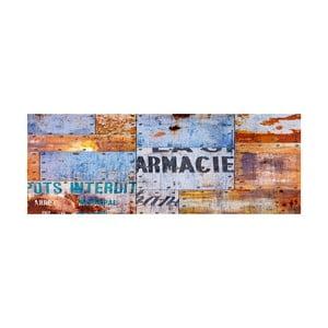 Vinylový koberec Planchas Metalicas, 50x100 cm