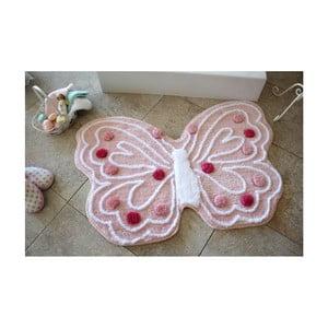 Kúpeľňová predložka Alessia Kelebek Pink, 70 x 120 cm