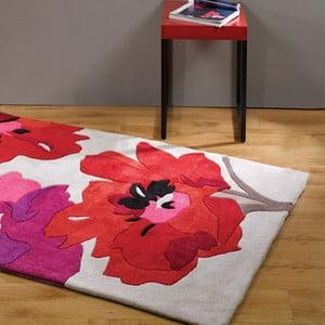 Koberec Bloom, 80x150cm, červený