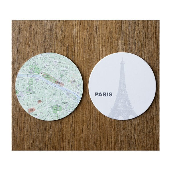 Sada 10 podložiek Design Ideas MapCoasters Paris