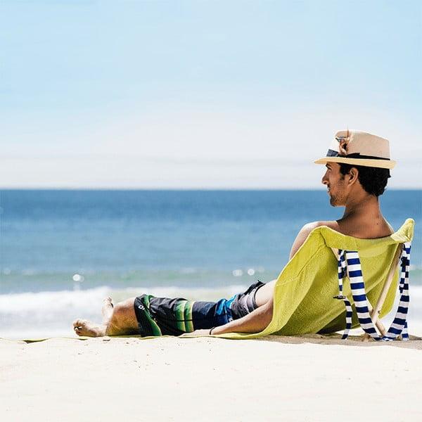 Skladacie plážové lehátko a osuška v jednom Sun Seat Olive