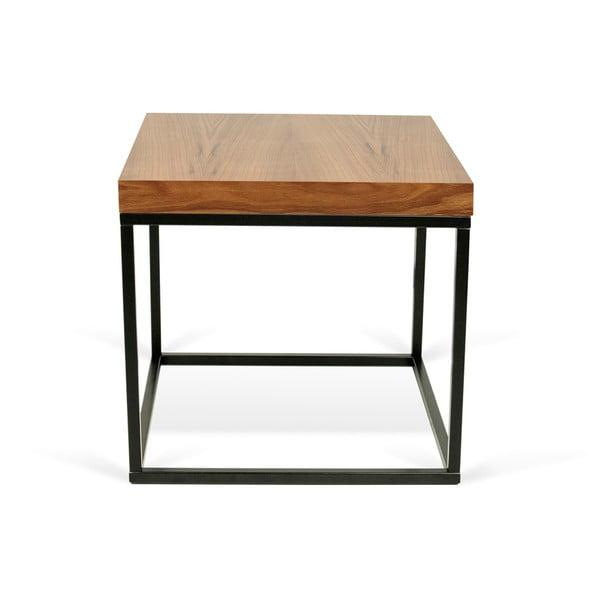 Odkladací stolík s doskou v dekore orechového dreva TemaHome Prairie