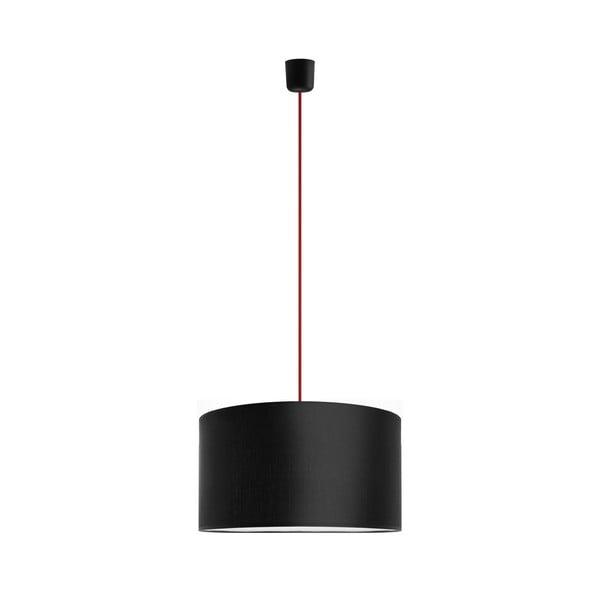 Závesné svietidlo Tres 40 cm, červená/čierna