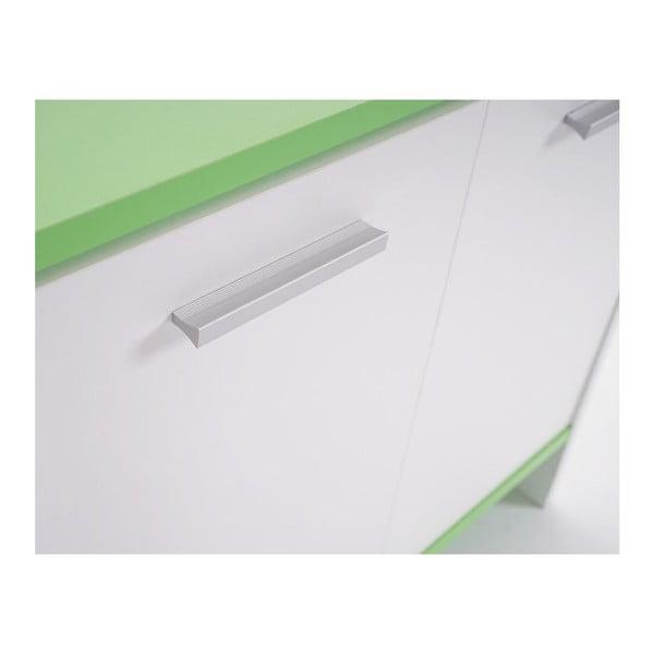 Kupeľňová skrinka Sonoma White/Green, 28x60x56 cm