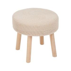 Béžová stolička J-Line Chrochet