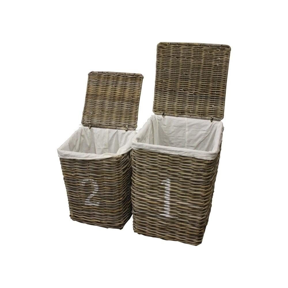 Sada 2 košov na bielizeň z koboo ratanu HSM Collection Laundry
