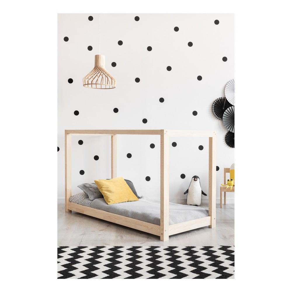 Domčeková posteľ z borovicového dreva Adeko Mila KM, 90 x 160 cm