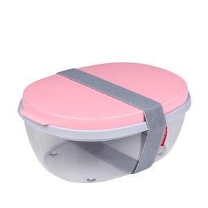Šalátový box s ružovým vrchnákom Rosti Mepal Ellipse