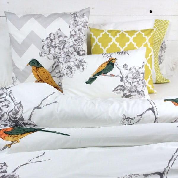 Obliečka na vankúš Spring birds, 40 x 40 cm