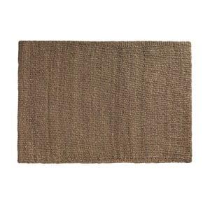 Hnedý koberec z morských rias Geese Rustico Natura, 150 × 210 cm