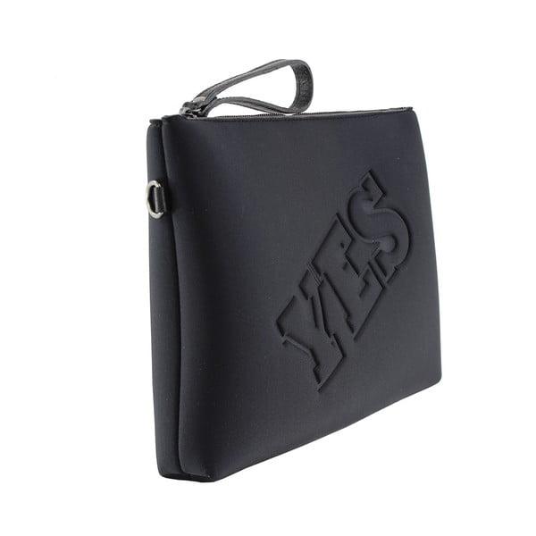 Neoprénová listová kabelka Yes/No, čierne