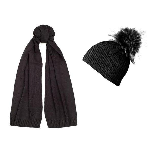 Čierna čiapka a šál Lavaii Jay