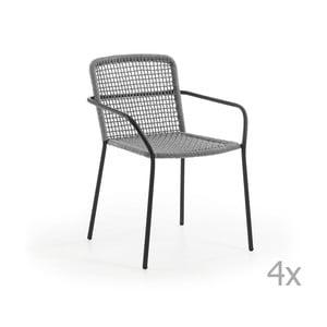 Sada 4 sivých záhradných stoličiek La Forma Boomer