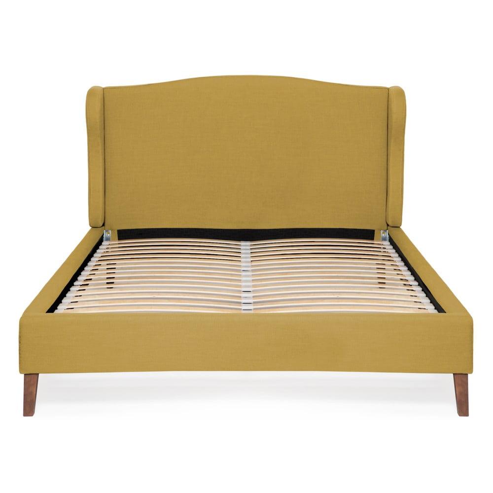 Kukuričnežltá posteľ Vivonita Windsor Linen, 200 × 180 cm
