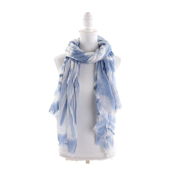 Šatka/pareo BLE Inart 100x200 cm, modrá/biela
