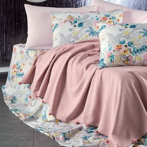 Sada posteľnej bielizne zo 100% bavlny Marie Lou Garden Salmon