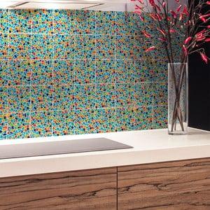 Sada 24 nástenných samolepiek Ambiance Cement Tile Stickers Terrazzo Wendy, 15 x 15 cm