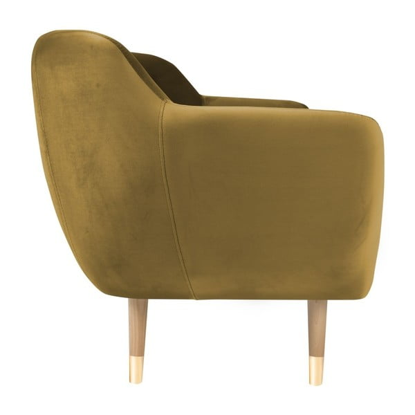 Kreslo v zlatej farbe Mazzini Sofas Amelie