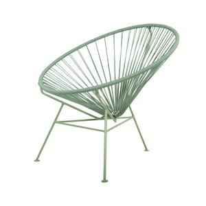 Zelené kreslo se zelenou podstavou OK Design Condesa