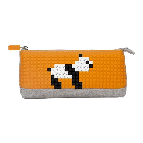 Pixelový perečník, grey/orange
