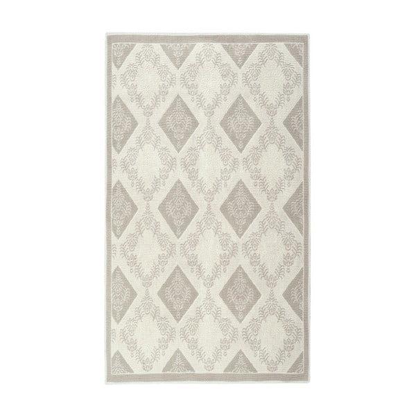 Krémový bavlnený koberec Floorist Fara, 100x200cm