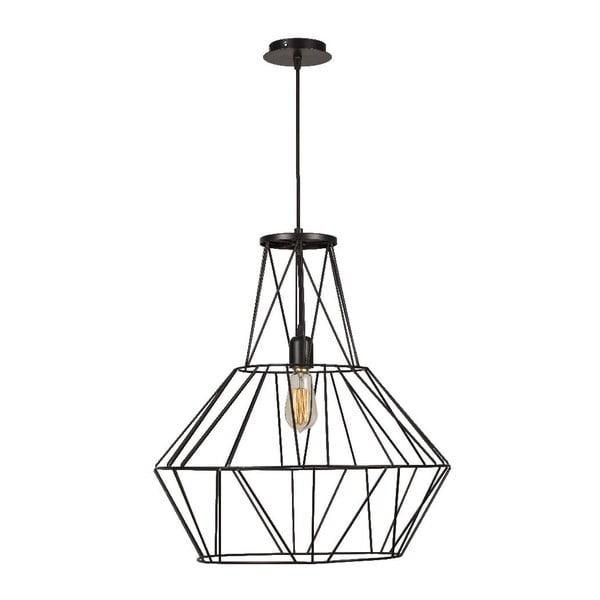 Čierne stropné svietidlo Cage Diamond
